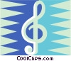 Music note Vector Clipart graphic