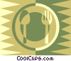 Vector Clip Art picture  of a Place setting