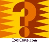 Vector Clip Art graphic  of a question mark