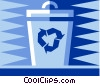 Vector Clip Art graphic  of a Recycle bin