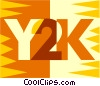 Vector Clip Art picture  of a Y2K