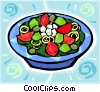 Vector Clip Art image  of a Salads