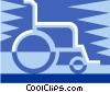 Vector Clip Art graphic  of a Wheelchair