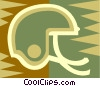 Vector Clip Art graphic  of a football helmet