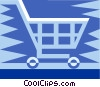 shopping cart Vector Clipart graphic