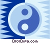 ying yang Vector Clipart illustration