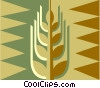 Vector Clip Art graphic  of a Cereal crop