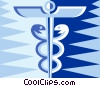 Vector Clip Art graphic  of a Caduceus symbol