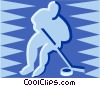hockey player Vector Clipart graphic