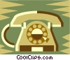 Office phone Vector Clipart illustration