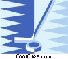 Vector Clipart image  of a hockey stick