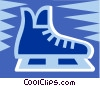 Ice skates Vector Clipart picture