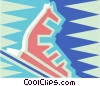 Vector Clip Art picture  of a Ski boot