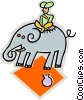 Elephants Vector Clip Art graphic