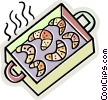 croissant trays Vector Clipart image