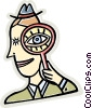 Vector Clipart illustration  of a Magnifying Glasses