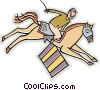 Vector Clip Art graphic  of a Horse jumping