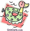 Vector Clip Art graphic  of a water toy