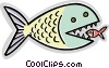 Vector Clip Art picture  of a Various Fish