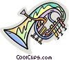 Vector Clip Art graphic  of a Tuba Players