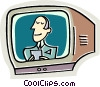 News broadcaster Vector Clipart illustration