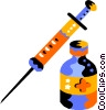 Vector Clipart illustration  of a Hypodermic Needles Syringes