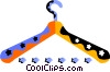 Vector Clip Art picture  of a Clothes Hangers