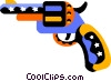 Vector Clip Art graphic  of a revolver