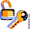Vector Clipart image  of a Keys and Locks