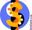 Vector Clip Art graphic  of a Dollar Signs