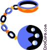 Handcuffs and Leg Irons Vector Clipart graphic