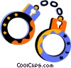 Vector Clipart illustration  of a Handcuffs and Leg Irons