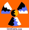 Vector Clip Art image  of a radioactive symbol
