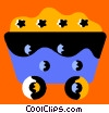 Vector Clip Art graphic  of a Coal