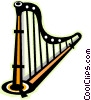 Harp Vector Clip Art graphic