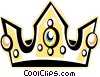 Vector Clip Art image  of a King's crown