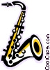 Vector Clipart graphic  of a Saxophone