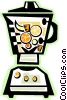 Vector Clip Art graphic  of a Blender with fruit