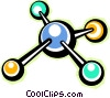 Colorful molecules Vector Clip Art image