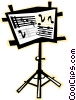 Vector Clipart illustration  of a Sheet music