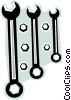 Three wrenches Vector Clip Art image
