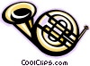 Vector Clipart picture  of a French horn