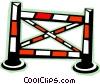 Vector Clip Art image  of a Equestrian jump