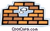 Bricks and Mortar Vector Clip Art graphic