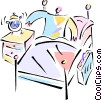 Vector Clipart picture  of a Beds