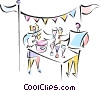 Vector Clipart picture  of a Toasting Success