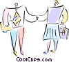 business people greeting Vector Clipart image