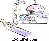 Vector Clipart image  of an airports