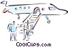 airplane Vector Clipart illustration