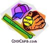 baseball equipment Vector Clipart graphic